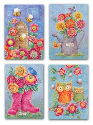 Owls and Boots, Thinking Of You Cards, Box of 12  -