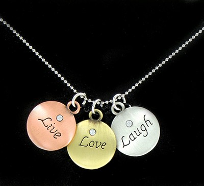 Live, Love, Laugh Necklace  -