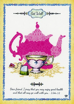 High Tea, Get Well Cards, Box of 12  -