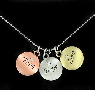 Faith, Hope, Love Necklace  -