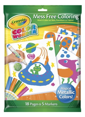 Crayola, Color Wonder Metallic Coloring Pad and Markers  -