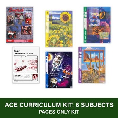 ACE Comprehensive Curriculum (6 Subjects), Single Student PACEs Only Kit, Grade 8, 3rd Edition (with 4th Edition Math)  -