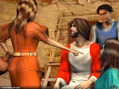 Mary and Martha  [Download] -     By: Eikon Bible Art