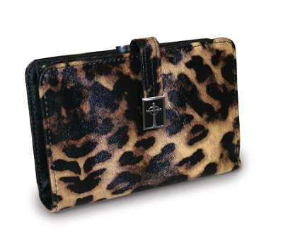 Cross Wallet with Coin Purse, Leopard  -