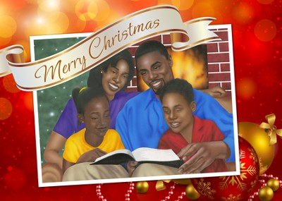 Family Christmas Christmas Cards African American, Box of 15  -