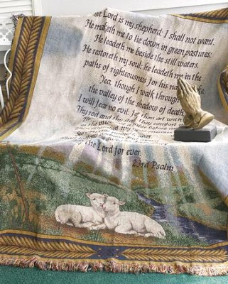 Psalm 23, Cotton Throw   -