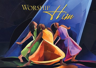 Worship Him Christmas Cards African American, Box of 15  -