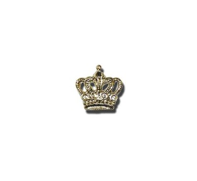 Crown Lapel Pin, Gold Plated  -