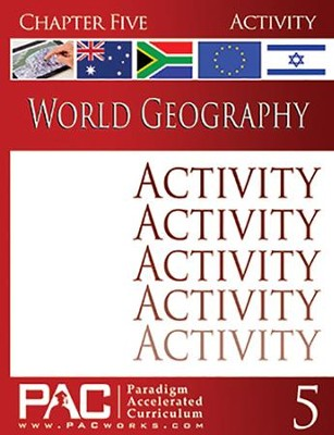 World Geography, Chapter 5, Activities   -