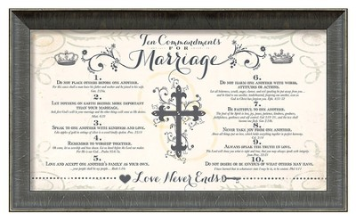 Ten Commandments of Marriage Framed Art  -