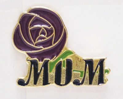 Mom and Rose Lapel Pin  -