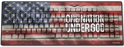 One Nation Under God, America Flag USB Wireless Keyboard  -