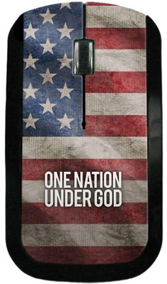 One Nation Under God America Flag USB Wireless Mouse  -