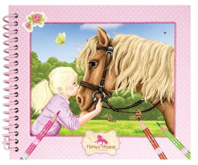 Horses Dreams Coloring Book, Small  -