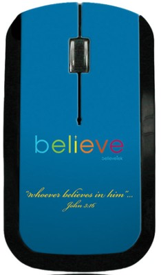 Believe USB Wireless Mouse, Blue  -