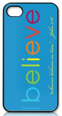 Believe iPhone 4 Case, Blue  -