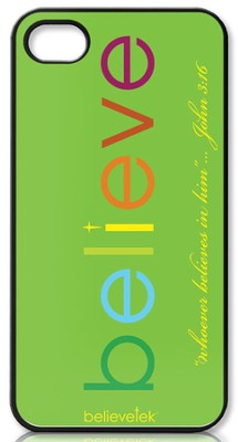 Believe iPhone 4 Case, Green  -