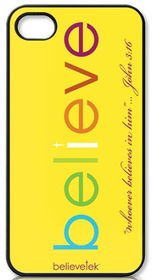 Believe iPhone 4 Case, Yellow  -