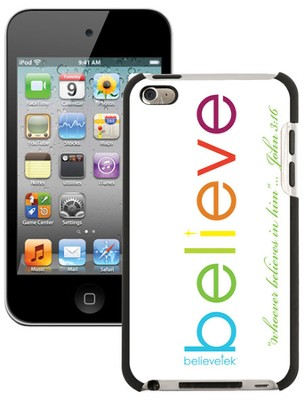 Believe iPod Touch 4G Case, White  -