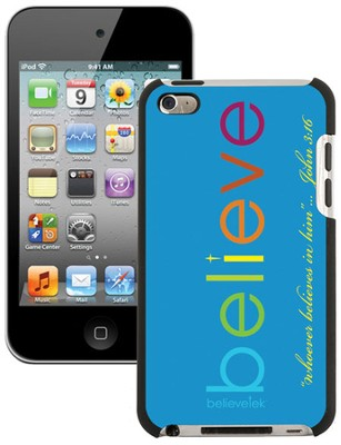Believe iPod Touch 4G Case, Blue  -