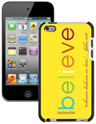 Believe iPod Touch 4G Case, Yellow  -