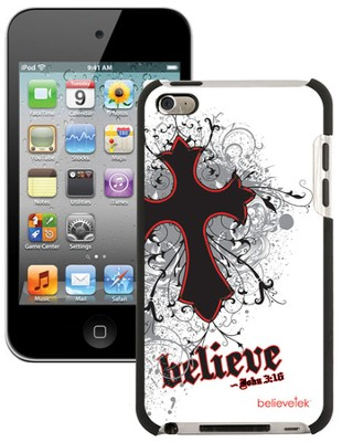 Believe with Cross iPod Touch 4G Case, White  -