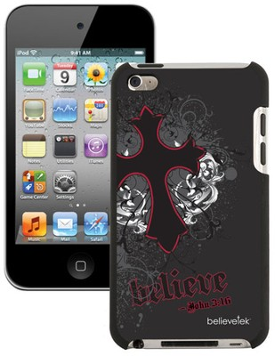 Believe with Cross iPod Touch 4G Case, Black  -