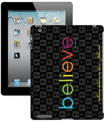 Believe iPad Case, Black  -