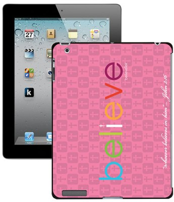 Believe iPad Case, Pink  -