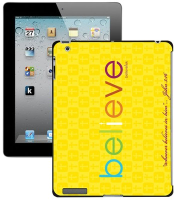 Believe iPad Case, Yellow  -