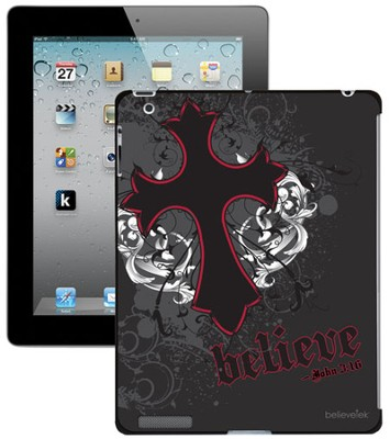 Believe with Cross iPad Case, Black  -