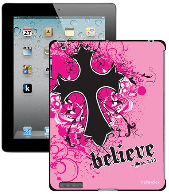 Believe with Cross iPad Case, Pink  -