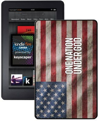 One Nation Under God America Flag Kindle Fire Case  -