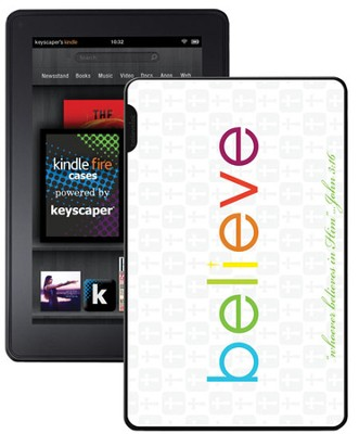 Believe Kindle Fire Case, White  -