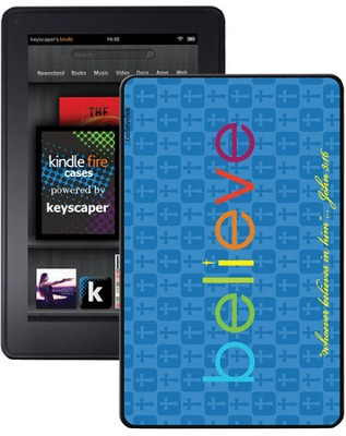 Believe Kindle Fire Case, Blue  -