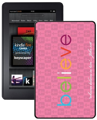 Believe Kindle Fire Case, Pink  -