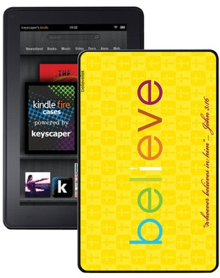 Believe Kindle Fire Case, Yellow  -