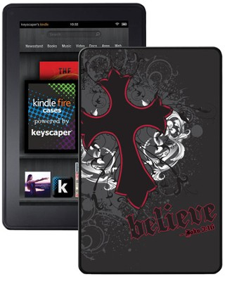 Believe with Cross Kindle Fire Case, Black  -