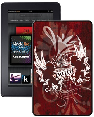 Truth Lion, John 14:6 Kindle Fire Case, Red  -