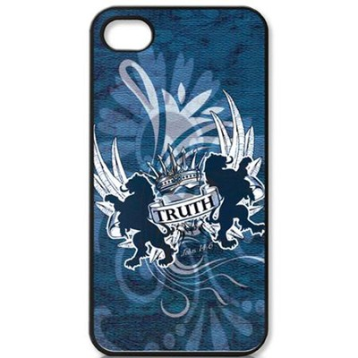 Truth Lion, John 14:6 iPhone 4 Case, Blue  -