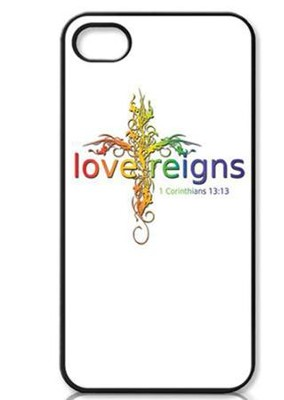 Love Reigns Cross Rainbow iPhone 4 Case  -