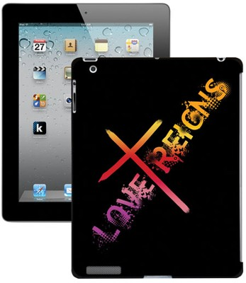 Love Reigns Cross iPad Case, Black  -