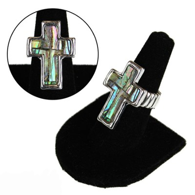 Shell Cross Stretch Ring  -
