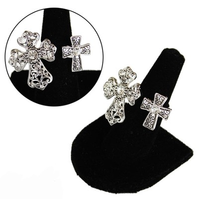 Open Double Cross Ring  -