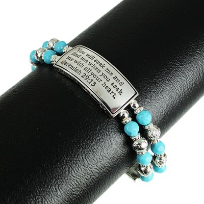 You Will Seek Me, Jeremiah 29:13 Bracelet, Turquoise  -
