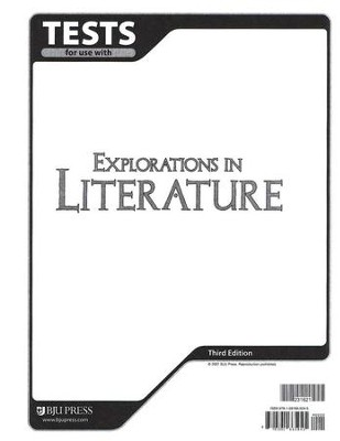 BJU Explorations in Literature Tests, Grade 7 (Third Edition)    -