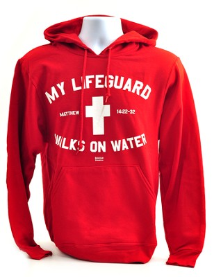 Lifeguard Hoodie, Red, Extra Large  -