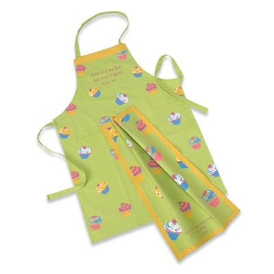 Cupcake Apron & Towel Set   -