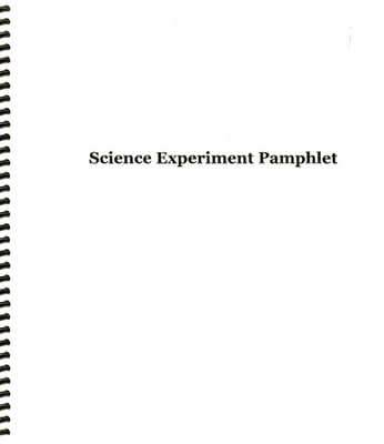 Science Experiment Pamphlet (History of Science  Study Guide Resource)  -