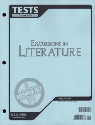 BJU Excursions in Literature Tests Answer Key Grade 8, 3rd Edition    -